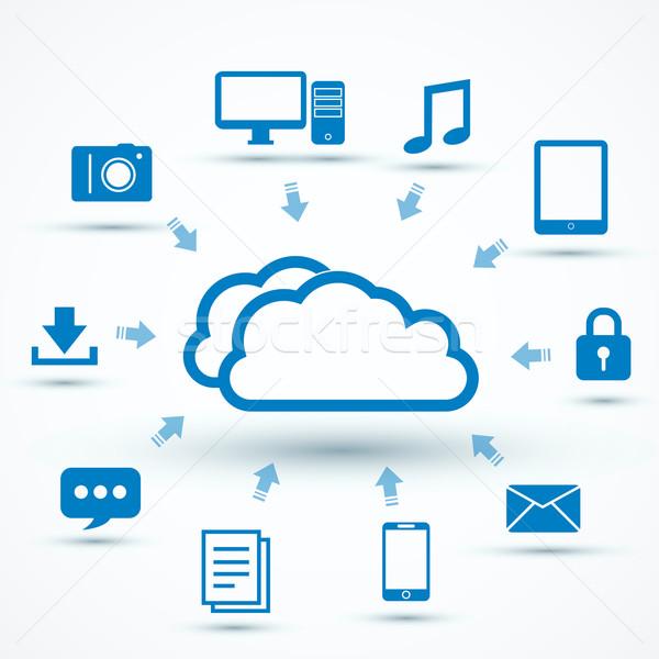 ícones telefone internet tecnologia servidor Foto stock © iunewind