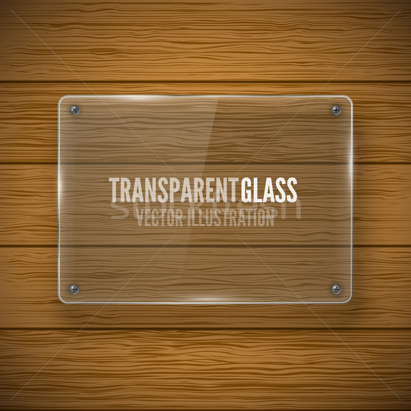 Glass framework and wood texture Stock photo © iunewind
