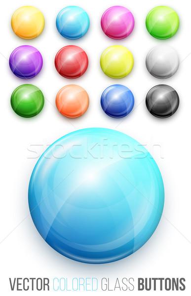 Botões botão abstrato assinar Foto stock © iunewind
