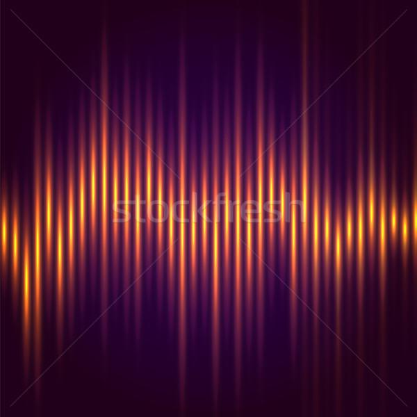Streszczenie muzyki korektor fali stylu wektora Zdjęcia stock © iunewind