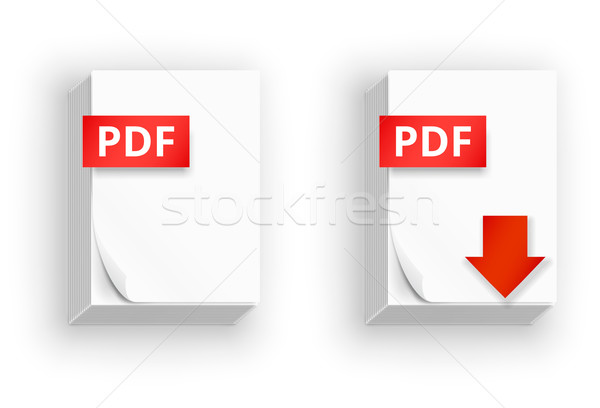 PDF paper sheet  icons Stock photo © iunewind