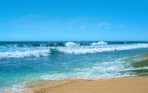 Onda bali céu sol natureza mar Foto stock © iunewind