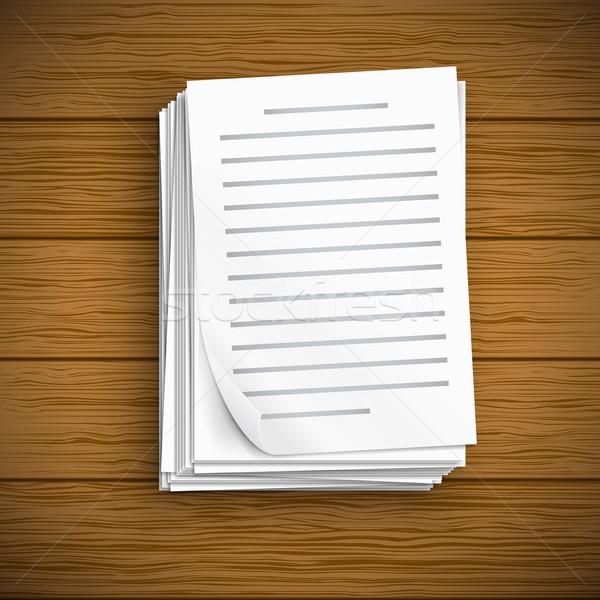 紙 シート アイコン ビッグ スタック 白 ストックフォト © iunewind
