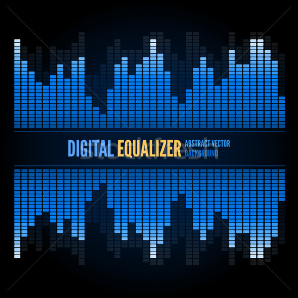 Hangszínszabályozó absztrakt technológia techno vektor zene Stock fotó © iunewind
