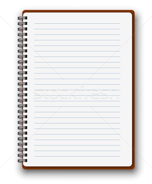 垂直 ノートブック スパイラル ベクトル ブラウン カバー ストックフォト © iunewind