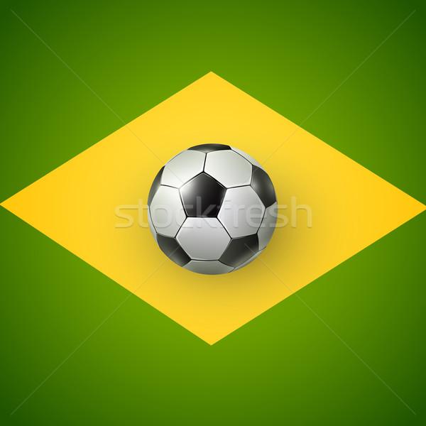 サッカーボール ブラジル 2014 フラグ スポーツ ストックフォト © iunewind