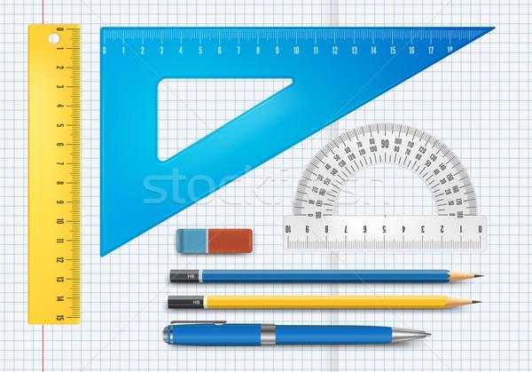 Oktatás ellátás illusztráció vektor ceruza háttér Stock fotó © iunewind