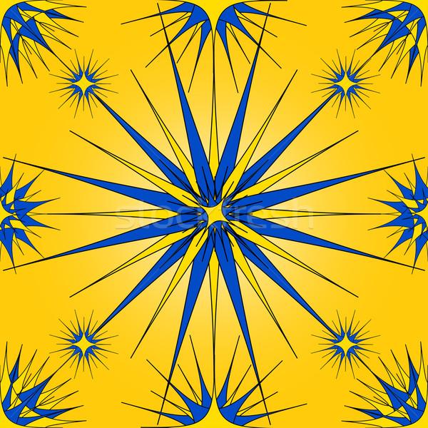Retro ornamento vetor projeto azul Foto stock © iunewind