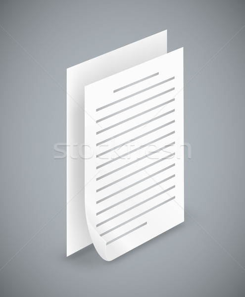 Paper sheet  icons Stock photo © iunewind