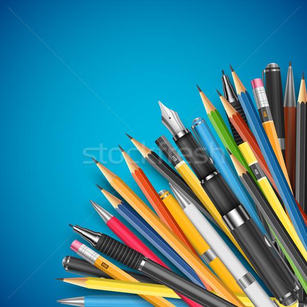 質量 鉛筆 ペン スペース 紙 ストックフォト © iunewind