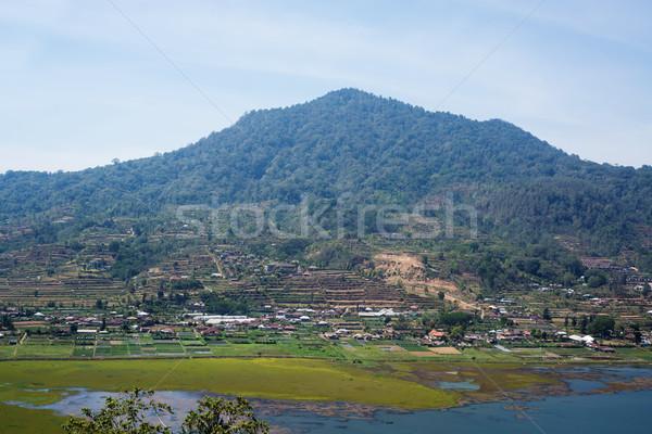 バリ 湖 村 山 インドネシア 空 ストックフォト © iunewind