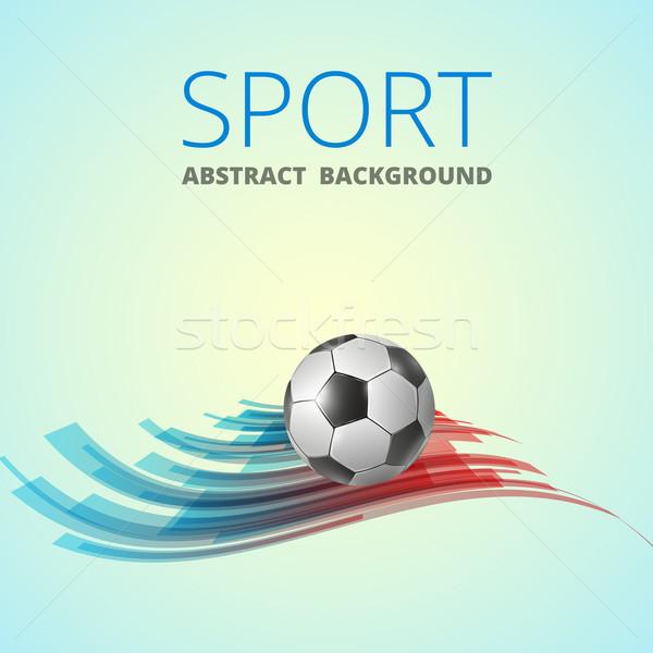 Futebol futebol abstrato projeto vetor esportes Foto stock © iunewind