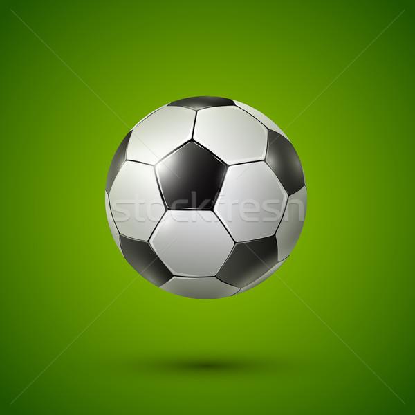 サッカーボール 緑 ベクトル 現実的な 実例 草 ストックフォト © iunewind