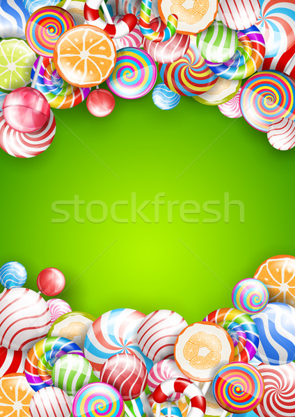 Lollipops background Stock photo © iunewind