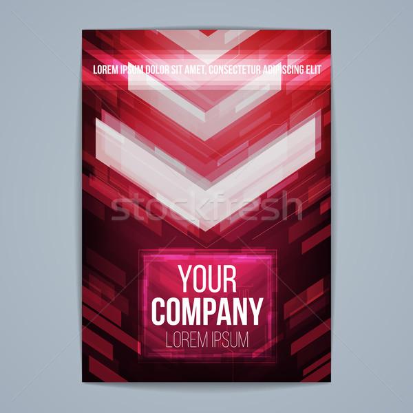 ベクトル テンプレート ポスター 技術 抽象的な オフィス ストックフォト © iunewind