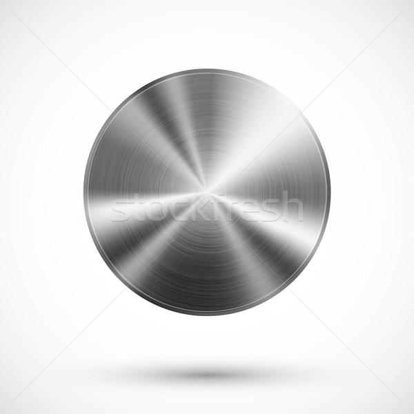 サークル ボタン 金属 ベクトル テンプレート ストックフォト © iunewind