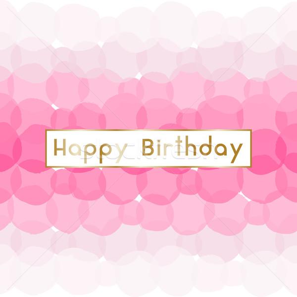 Birthday Greeting Card Design Stock photo © ivaleksa
