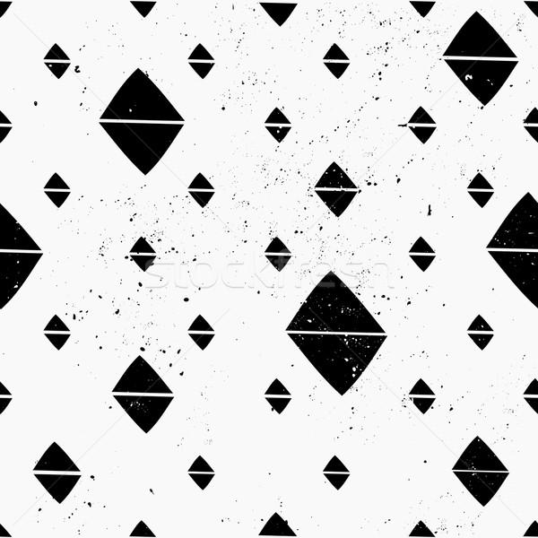 Сток-фото: рисованной · аннотация · стиль · геометрический · черно · белые