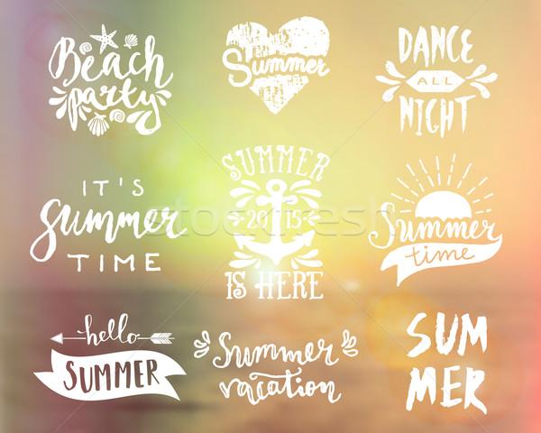 Typographic Summer Designs Stock photo © ivaleksa