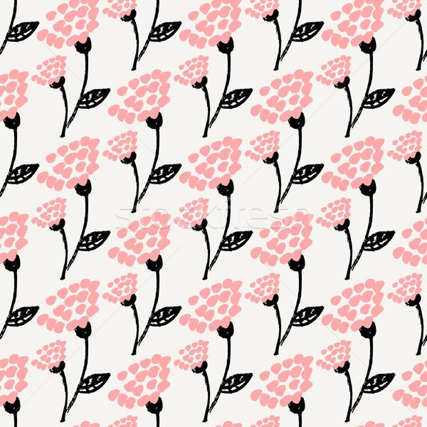 Hand Drawn Floral Seamless Pattern Stock photo © ivaleksa