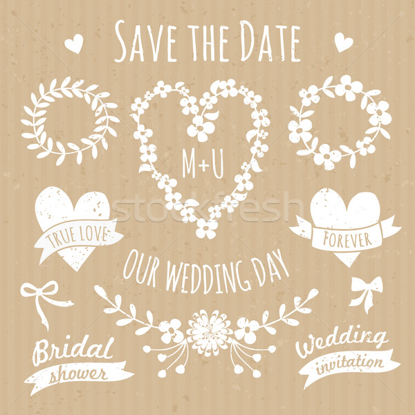Foto d'archivio: Wedding · design · elementi · raccolta · set · floreale