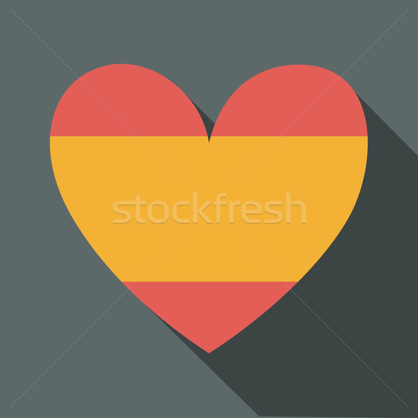 スペイン国旗 アイコン デザイン 長い 影 ストックフォト © ivaleksa