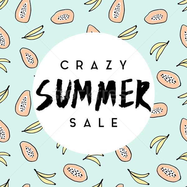 Summer Sale Poster Design Stock photo © ivaleksa