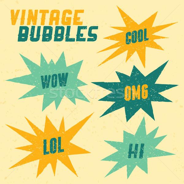 Retro Bubbles Collection Stock photo © ivaleksa
