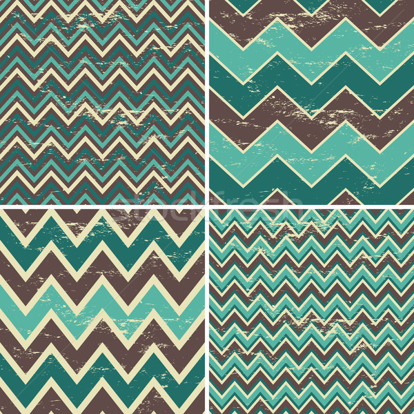 Stock photo: Seamless Chevron Patterns Collection