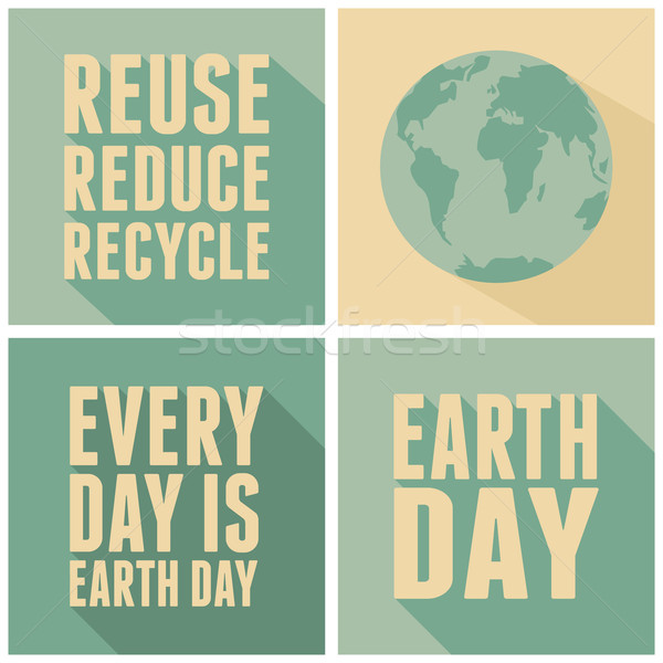Earth Day Cards Collection Stock photo © ivaleksa