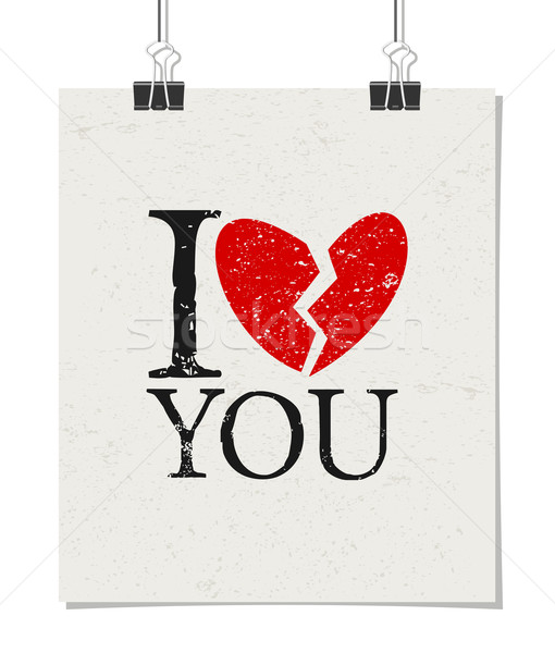 I Don't Love You Poster Stock photo © ivaleksa