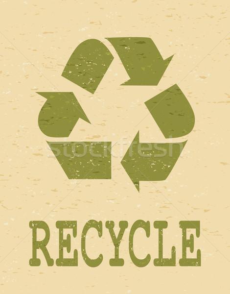 Recycle Symbol Poster Stock photo © ivaleksa