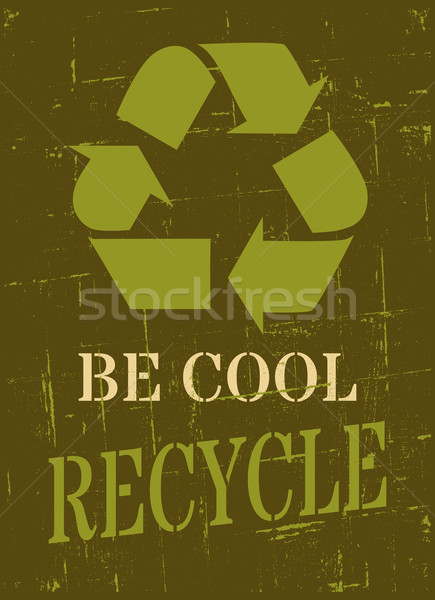 Recycle Symbol Poster Stock photo © ivaleksa