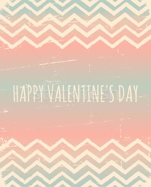 Chevron Pattern Valentine's Day Design Stock photo © ivaleksa