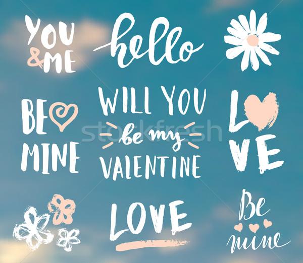 Valentine's Day Typographic Designs Stock photo © ivaleksa