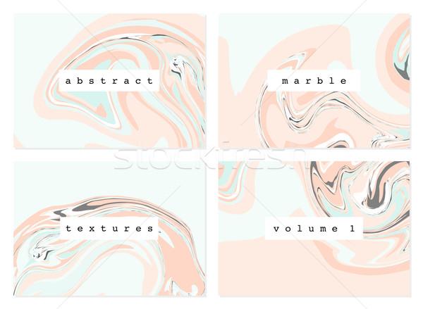 Marbre textures ensemble quatre pastel Photo stock © ivaleksa