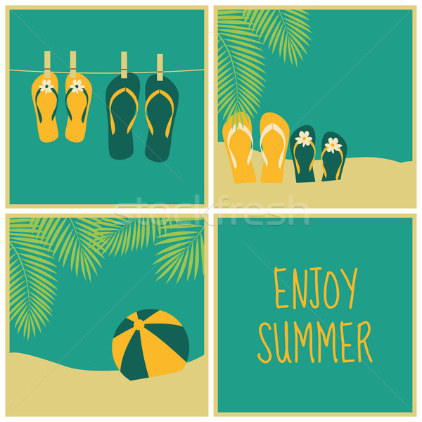 Summertime Cards Collection Stock photo © ivaleksa