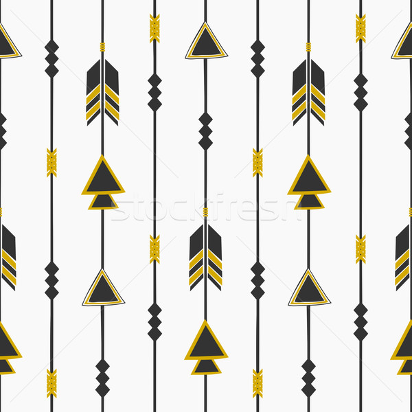 Tribal Style Arrows Seamless Pattern Stock photo © ivaleksa