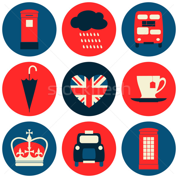 London Icons Collection Stock photo © ivaleksa