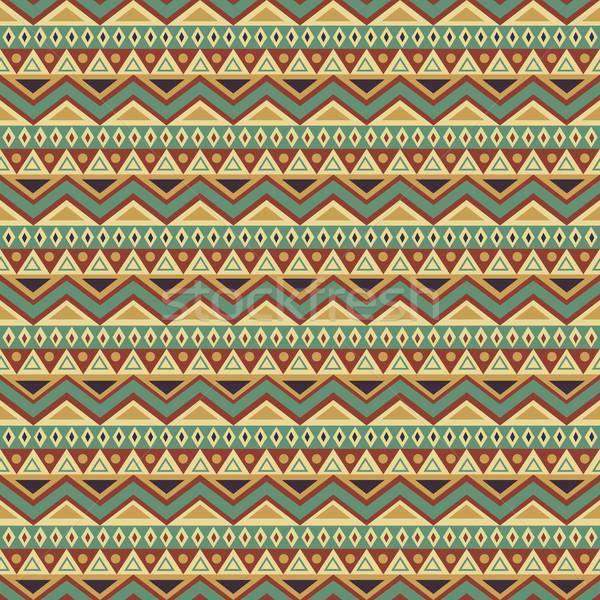 Seamless Ethnic Background Stock photo © ivaleksa