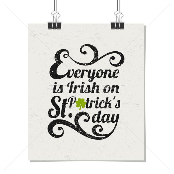 St. Patrick's Day Poster Stock photo © ivaleksa