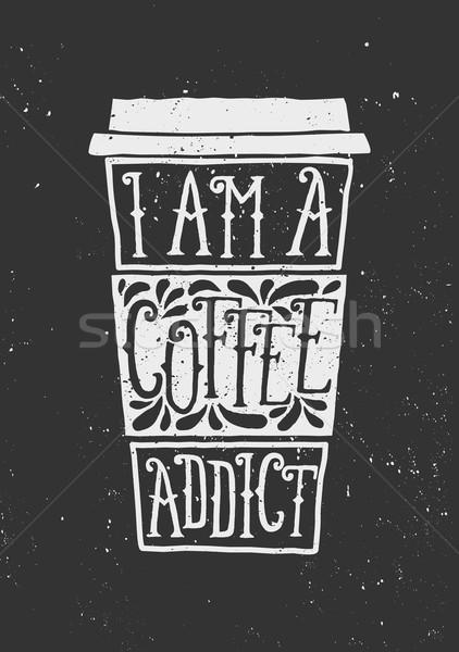 доске стиль чашку кофе дизайна рисованной Сток-фото © ivaleksa