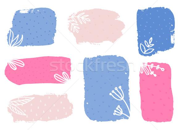 春 バナー コレクション セット 手描き カラフル ストックフォト © ivaleksa