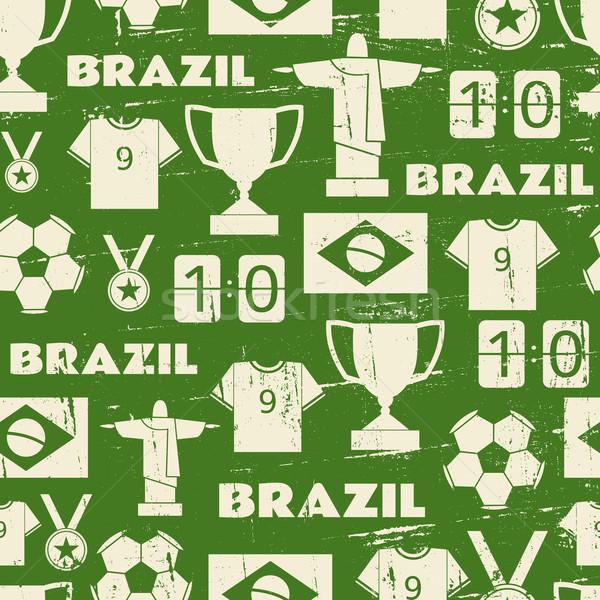 Stok fotoğraf: Brezilya · futbol · tekrar · model
