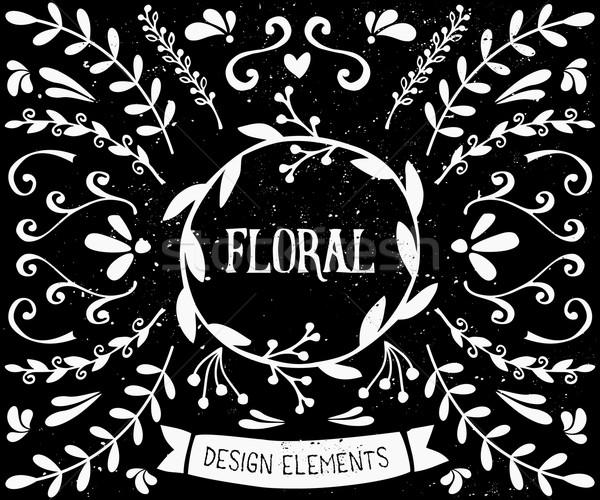 Chalkboard Style Design Elements Collection Stock photo © ivaleksa