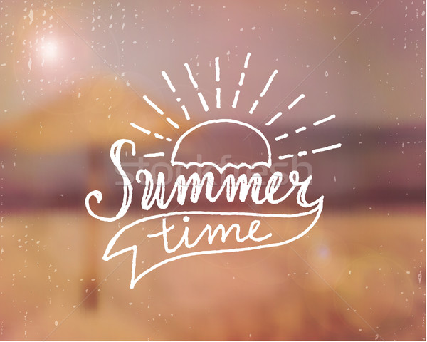 Summer Time Hand Lettered Design Stock photo © ivaleksa