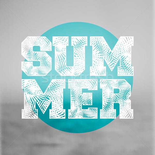 Abstract Typographic Summer Design Stock photo © ivaleksa