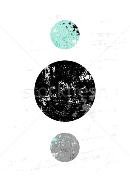 Soyut geometrik siyah gri Stok fotoğraf © ivaleksa
