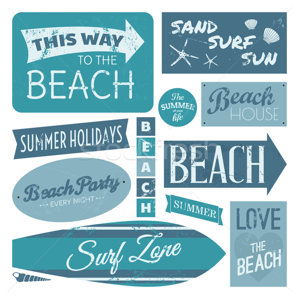 Beach Labels Collection Stock photo © ivaleksa