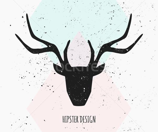 Deer Head Silhouette Design Stock photo © ivaleksa